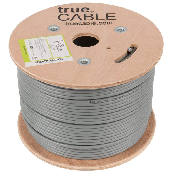 Cat6 Riser Ethernet Cable Gray 500ft trueCABLE Reel No Wrap