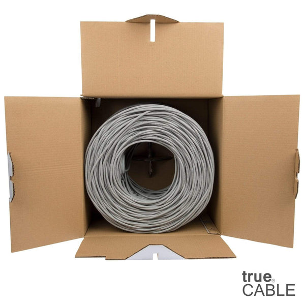 Cat6 Riser Ethernet Cable Gray 1000ft trueCABLE Open Box