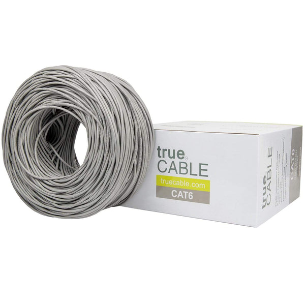 Cat6 Riser Ethernet Cable Gray 1000ft trueCABLE Box Top
