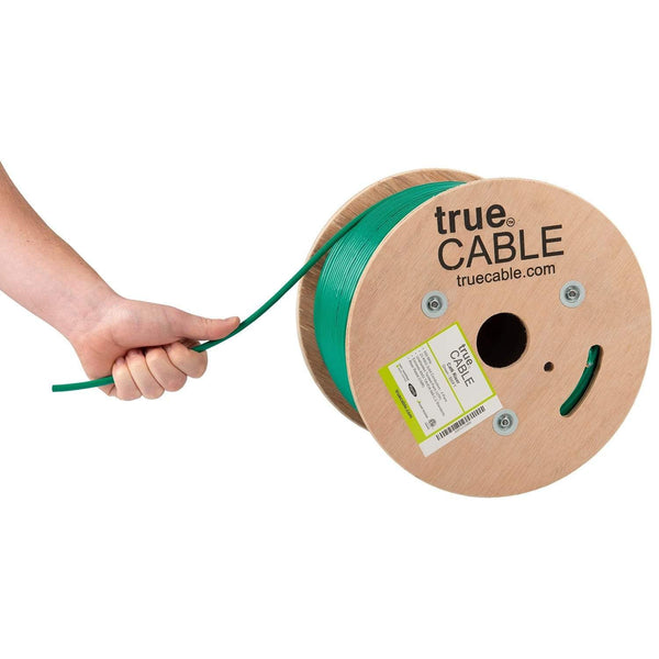 Cat6 Riser Ethernet Cable Green 500ft trueCABLE Hand Pulling