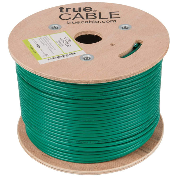 Cat6 Riser Ethernet Cable Green 500ft trueCABLE Reel No Wrap