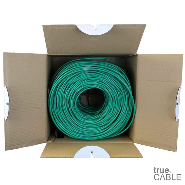 Cat6 Riser Ethernet Cable Green 1000ft trueCABLE Open Box