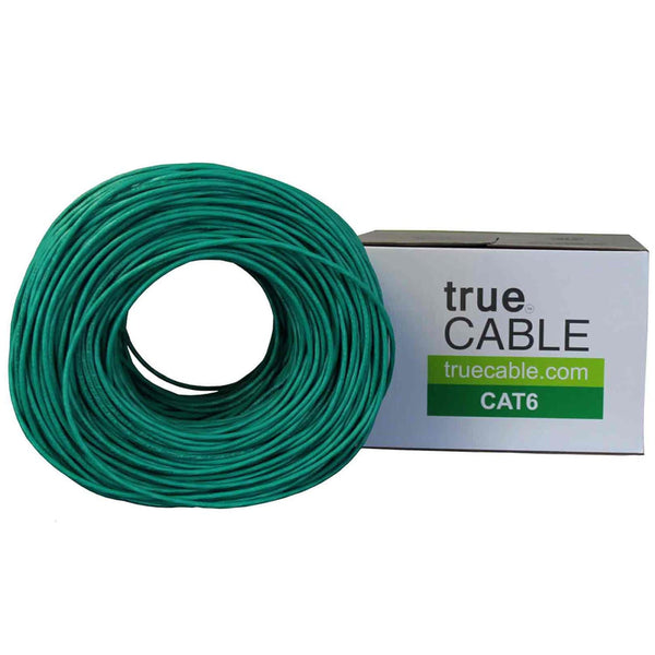 Cat6 Riser Ethernet Cable Green 1000ft trueCABLE Box Top
