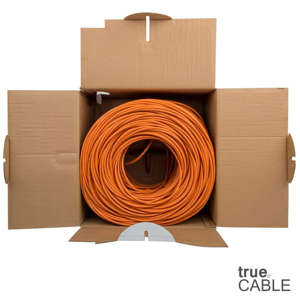 Cat6 Riser Ethernet Cable Orange 1000ft trueCABLE Open Box