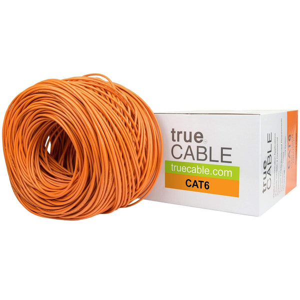 Cat6 Riser Ethernet Cable Orange 1000ft trueCABLE Box Top