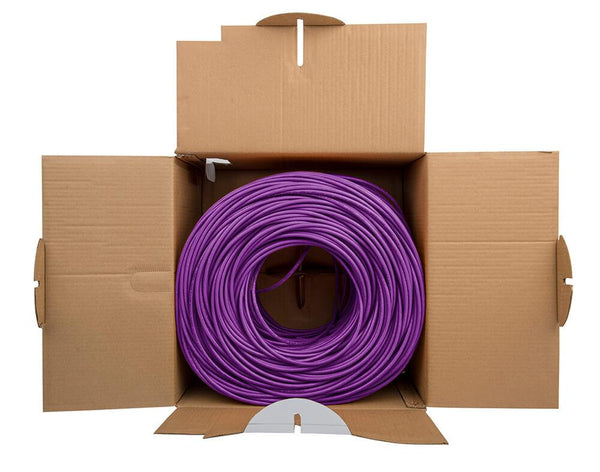 Cat6 Riser Ethernet Cable Purple 1000ft trueCABLE Open Box