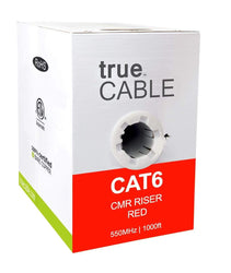 Cat6 Riser Ethernet Cable Blue 1000ft trueCABLE Box Front