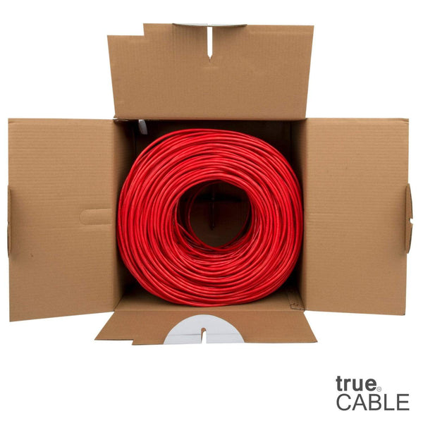 Cat6 Riser Ethernet Cable Red 1000ft trueCABLE Open Box