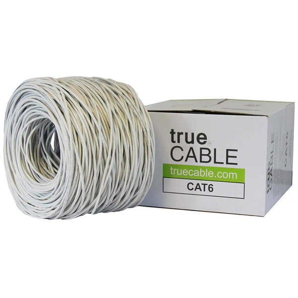 Cat6 Riser Ethernet Cable White 1000ft trueCABLE Box Top