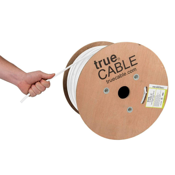 Cat6 Shielded Direct Burial Cable White 1000ft trueCABLE Hand Pull