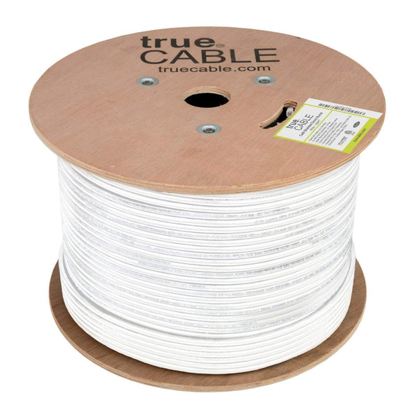 Cat6 Shielded Direct Burial Cable White 1000ft trueCABLE Reel Top