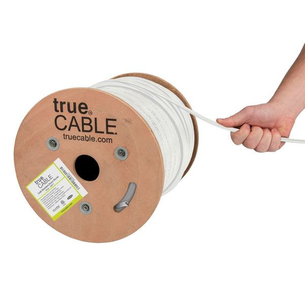 Cat6 Shielded Direct Burial Cable White 500ft trueCABLE Hand Pull