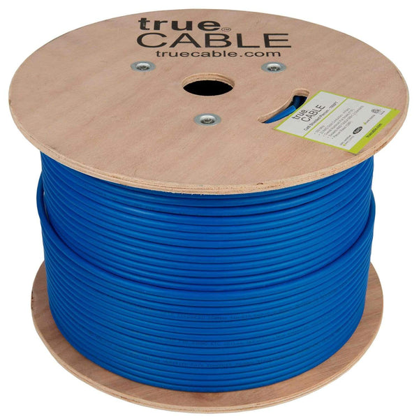 Cat6 Shielded Plenum Ethernet Cable Blue 1000ft trueCABLE Reel No Wrap