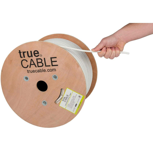 Cat6 Shielded Plenum Ethernet Cable White 1000ft trueCABLE Hand Pulling