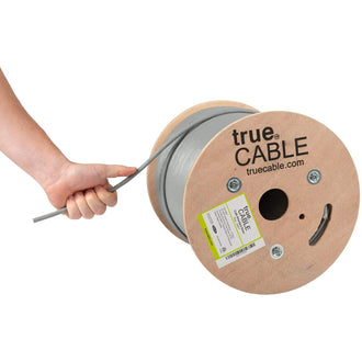 Cat6 Shielded Riser Ethernet Cable Gray 500ft trueCABLE Hand Pulling