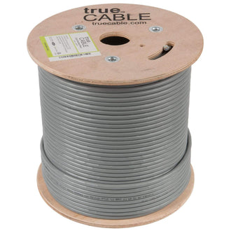 Cat6 Shielded Riser Ethernet Cable Gray 500ft trueCABLE Reel No Wrap