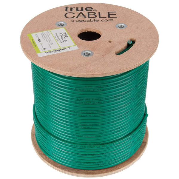 Cat6 Shielded Riser Ethernet Cable Green 500ft trueCABLE Reel No Wrap