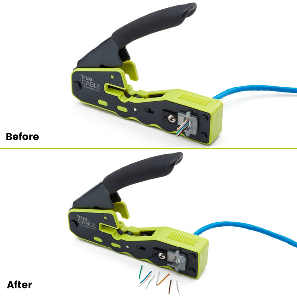 Pass Through Crimp and Termination Tool - Before & After
