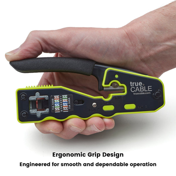 Pass Through Crimp and Termination Tool - Ergonomic Design