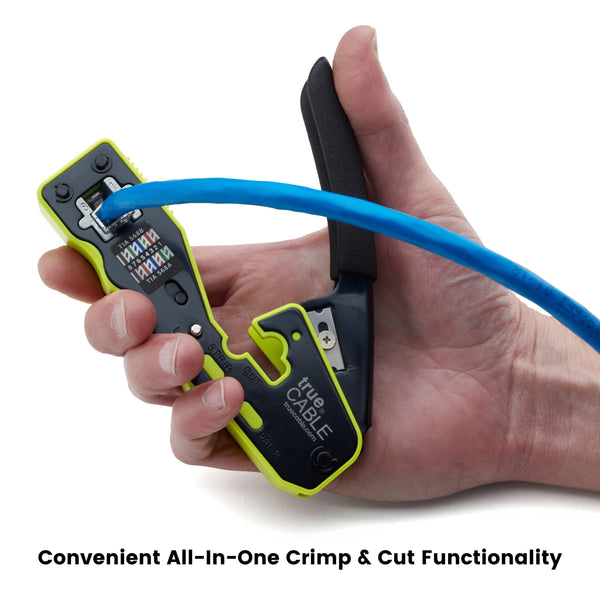 Pass Through Crimp and Termination Tool - Functionality