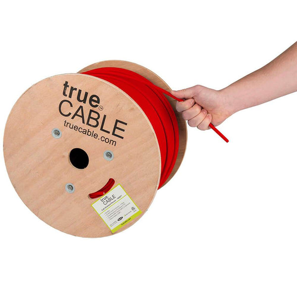 Cat6 Shielded Plenum Ethernet Cable Red 1000ft trueCABLE Hand Pulling