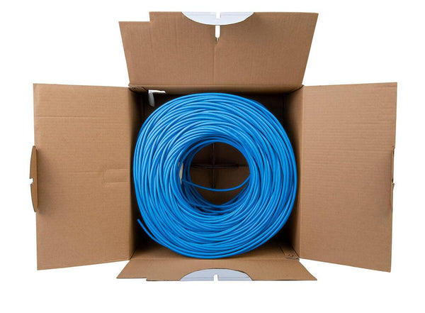 Cat5e Shielded Plenum Ethernet Cable Blue 1000ft trueCABLE Open Box