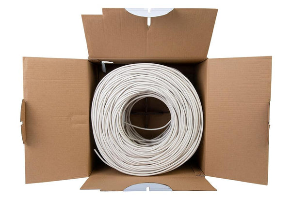 Cat5e Shielded Plenum Ethernet Cable White 1000ft trueCABLE Open Box