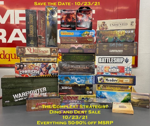 The 2nd Annual Strategic Ding and Dent Sale at The Compleat Strategist