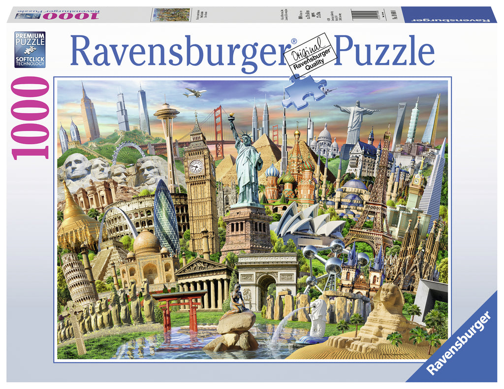 World Landmarks 1000 piece jigsaw puzzle