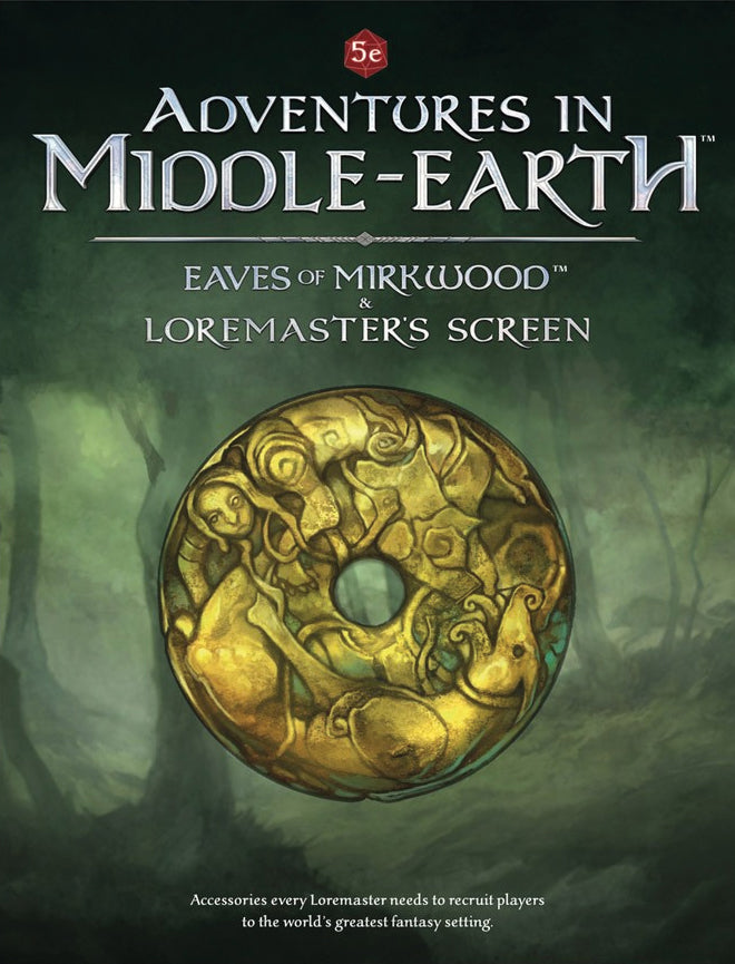 Dungeons and Dragons RPG: Adventures in Middle-Earth Eaves of Mirkwood and Loremaster's Screen