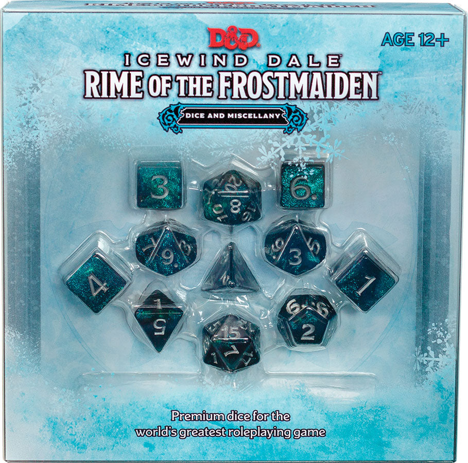 Dungeons and Dragons RPG: Icewind Dale - Rime of the Frostmaiden Dice Set (Preorder)