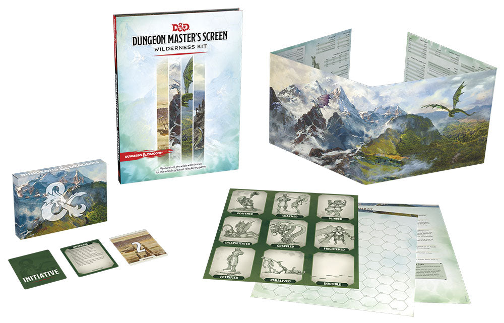 Dungeons and Dragons RPG: Dungeon Master's Screen Wilderness Kit (Preorder)