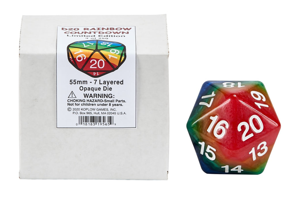 Dice: Layered D20 Rainbow Countdown - Limited Edition