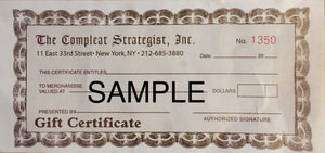 Compleat Strategist Gift Certificate for In-Store Use (free shipping)