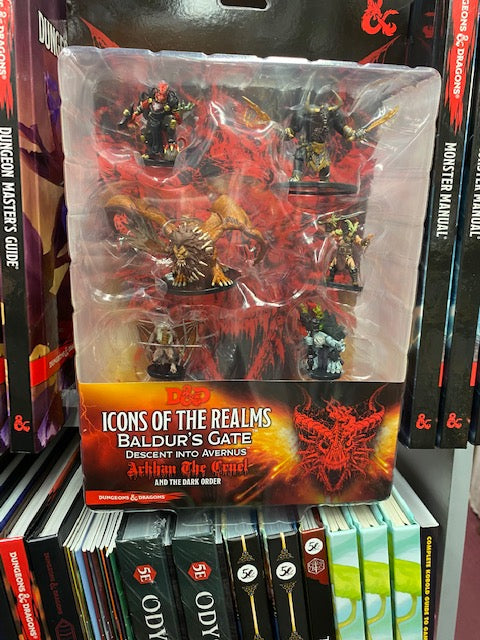 Dungeons & Dragons Icons of the Realms Figure Pack Descent into Avernus Arkhan the Cruel and the Dark Order
