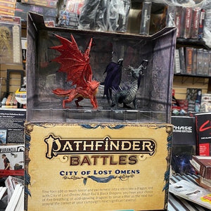 Pathfinder Battles: City of Lost Omens Premium Figure Adult Red & Black Dragons
