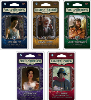Arkham  Horror the Card Game Investigator Starter Decks