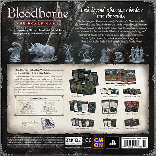 Bloodborne: Forbidden Woods Expansion Back of Box