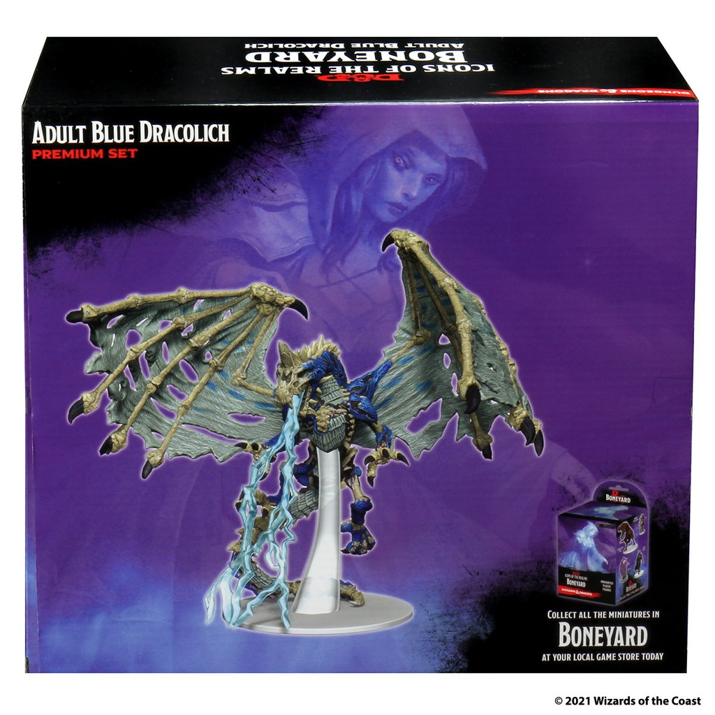 D&D Icons of the Realms Blue Dracolich