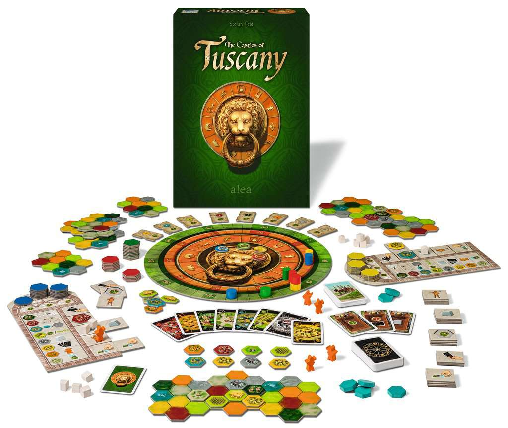 The Castles of Tuscany Board Game Contents