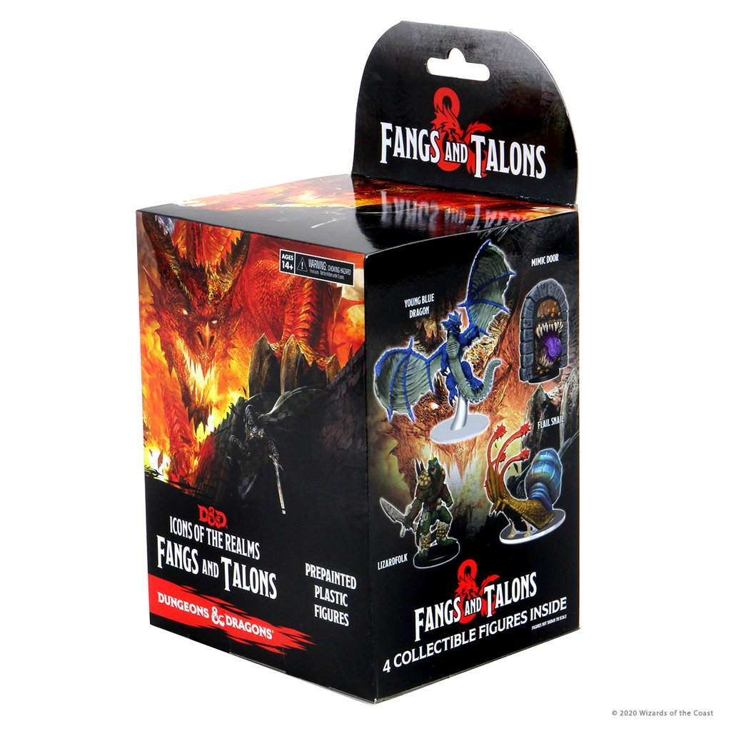 Dungeons & Dragons Fantasy Miniatures: Icons of the Realms Set 15 Fangs and Talons Booster Brick (8)