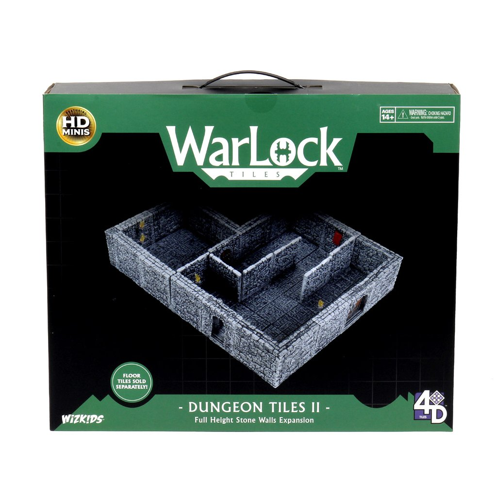 WARLOCK TILES: DUNGEON TILES II - FULL HEIGHT STONE WALLS EXPANSION