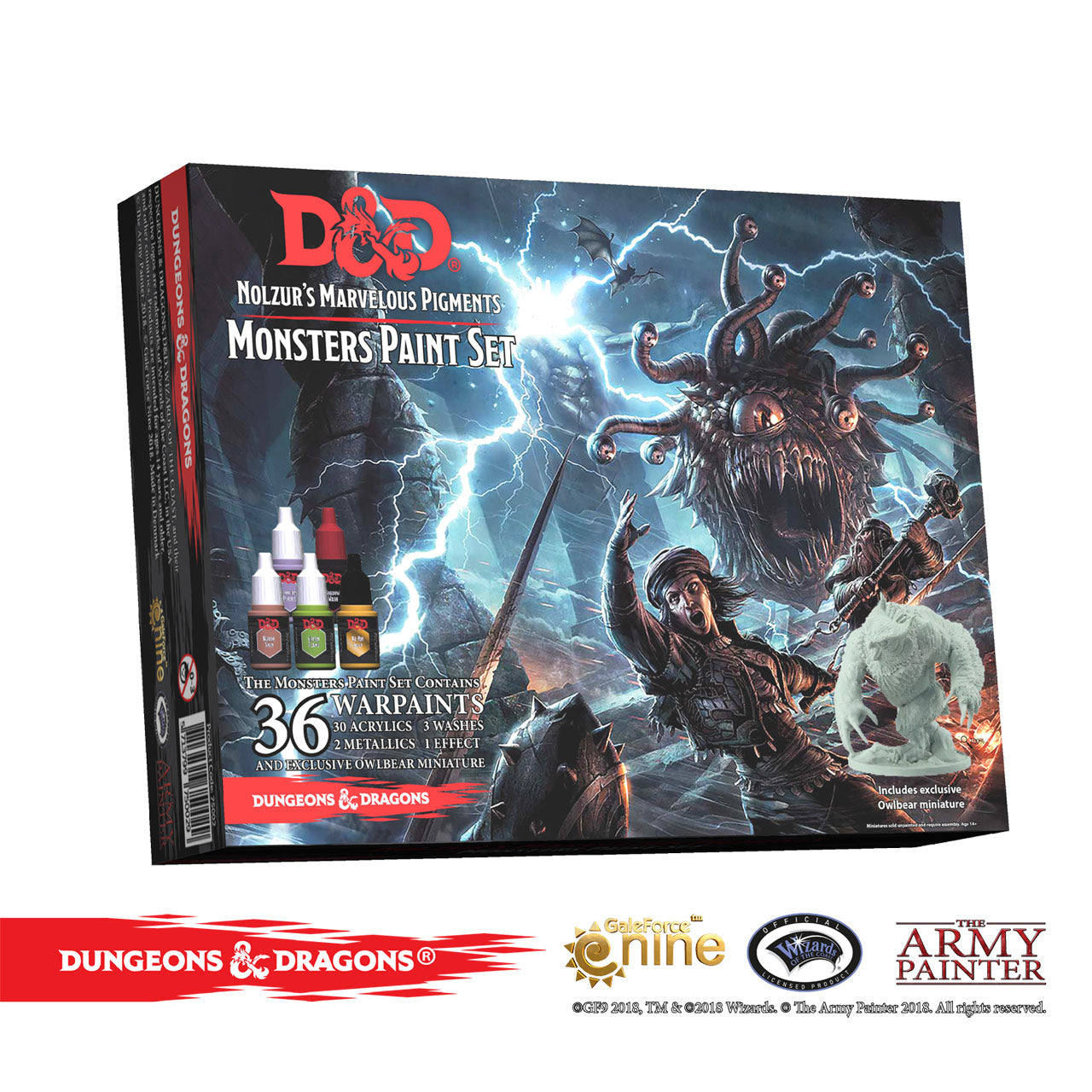 Dungeons & Dragons Nolzur's Marvelous Pigments: Monster Paint Set