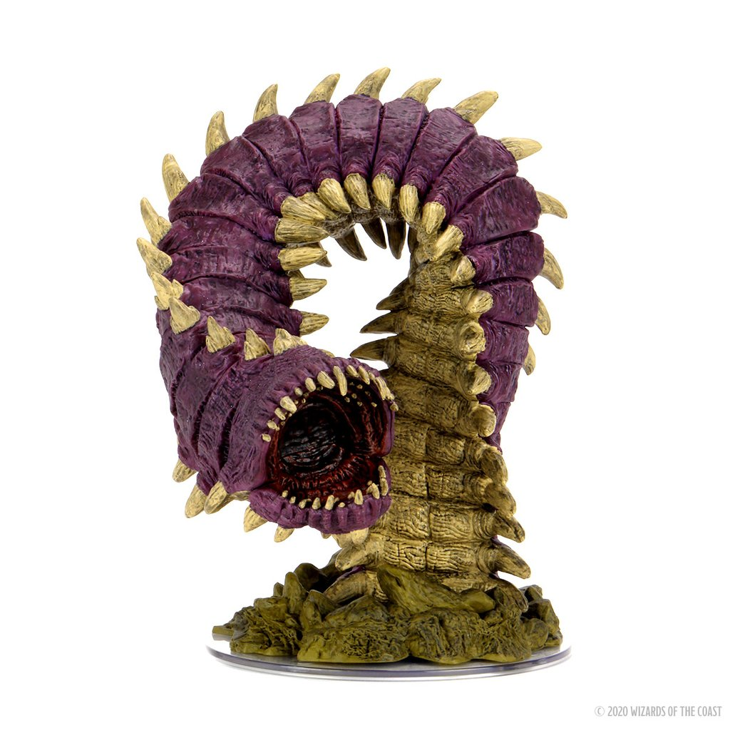 Dungeons & Dragons Fantasy Miniatures: Icons of the Realms Set 15 Fangs and Talons - Purple Worm Premium
