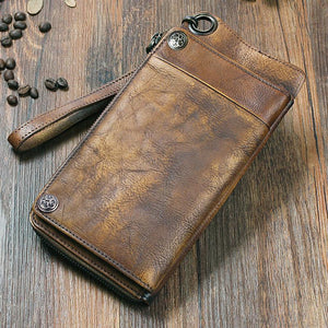 Vintage Men's Leather Money Bag / Wallet