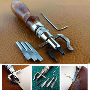 7 in 1 Adjustable Stitching and Grooving Leather Tool