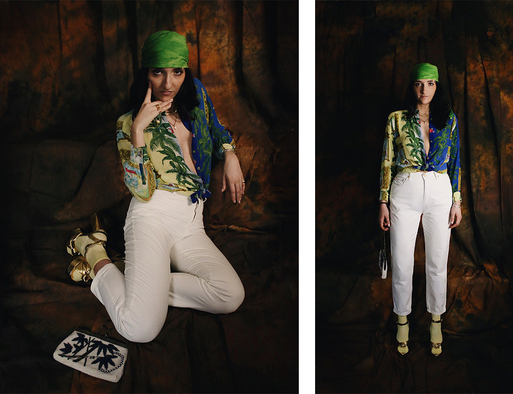 Versace Jeans Couture Palm Sea Printed Shirt