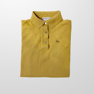BURBERRY KNITTED WOOL POLO BUTTON UP TOP SHIRT-BASEMENT SIX