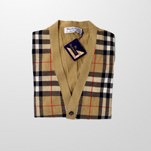 BURBERRY KNITTED NOVA WOOL VEST CARDIGAN JUMPER-BASEMENT SIX