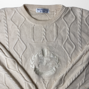 BURBERRY CREST WOOL SWEATER JUMPER-BASEMENT SIX